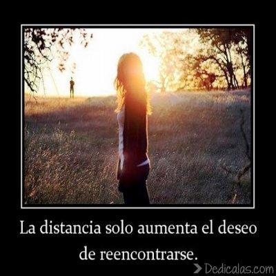 La distancia solo aumenta el deseo de reencontrarse